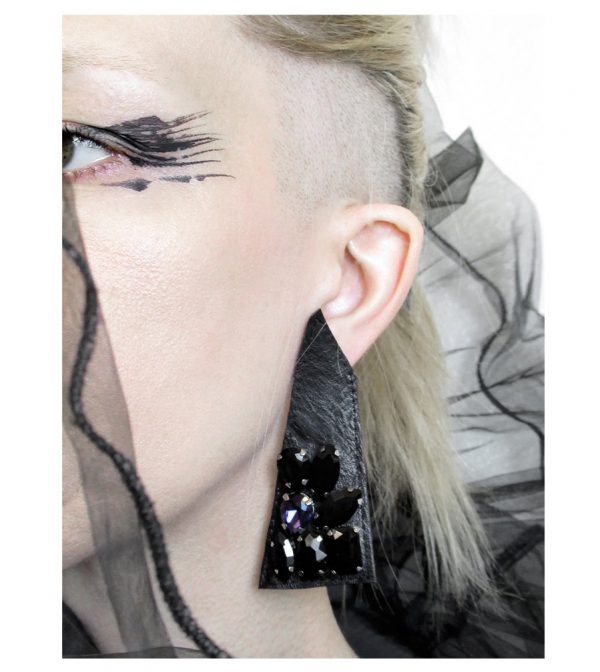 Last-Night-Earring-Leather-glass-Rannka-collection–no-11