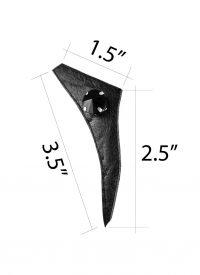 Last-Night-triangle-angled-black-leather-black-beads-signature-earring-size