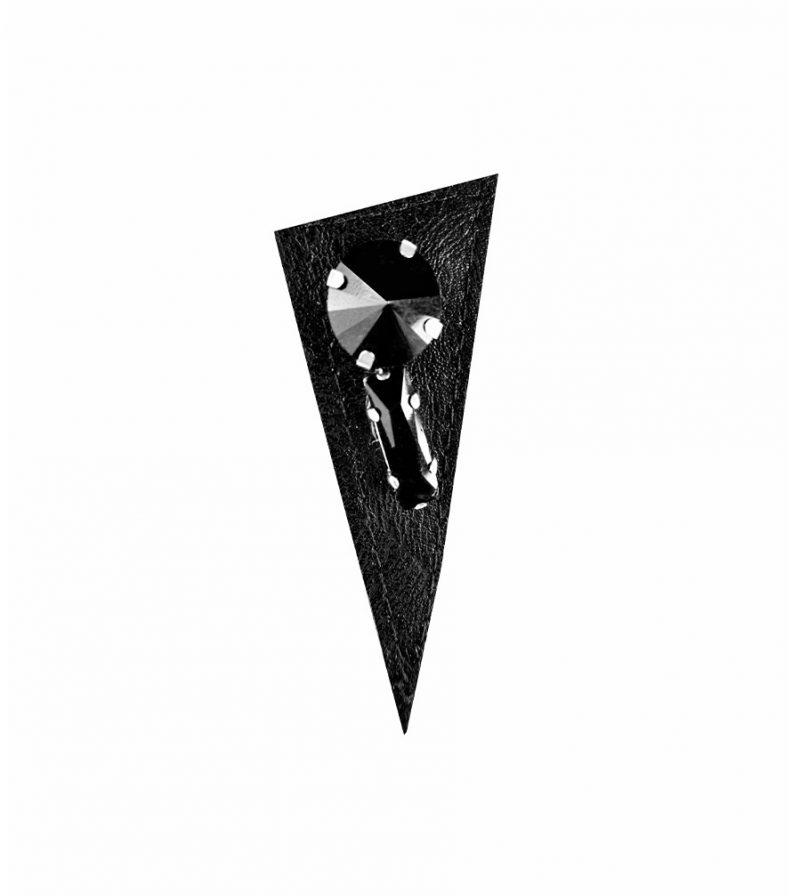 Rannka-Black-Leather-Black-Glass-Earring-Last-Night-Collection-no-5