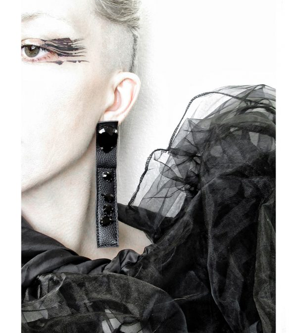 Rannka-collection-Last-Night-Earrings-leather-and-glass–no-7