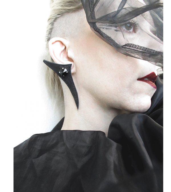 Rannka-collection-Last-Night–leather-glass-earrings-3