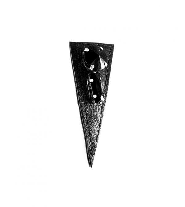 last-Night-Rannka-Leather-glass-earring-no-5