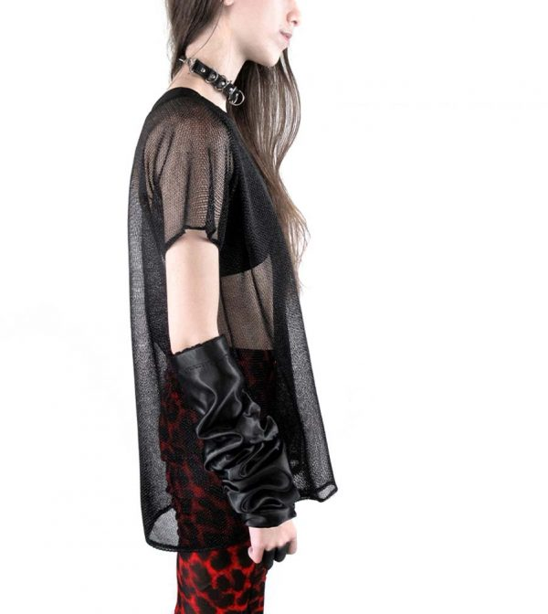black-knit-chainmail-boxy-t-shirt-unisex-top-rannka